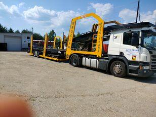 pengangkut mobil SCANIA Eurolohr + trailer pengangkut mobil