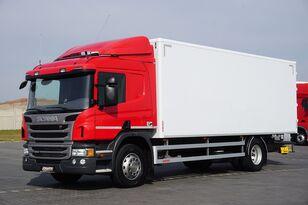 truk box SCANIA P 250  / E 6 / KONTENER / 17 PALET / ŁAD. 9166 KG / MAŁY PRZEBIE
