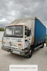 truk dengan terpal samping RENAULT Midliner M140.13 left hand drive 6 cylinder 13 ton full springs