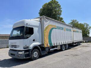 truk dengan terpal samping RENAULT Premium 420 + trailer dengan terpal samping