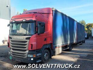 truk jungkit SCANIA R400,Euro 5, Automat + trailer yang bisa dimiringkan