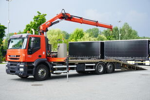 truk penderek IVECO Stralis 360, EEV, 6x2, 7.8m tow truck, lift axle , CRANE HIAB ma