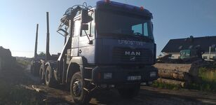 truk pengangkut kayu MAN Fe 460 6x6